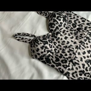 Animal Print Body con Dress